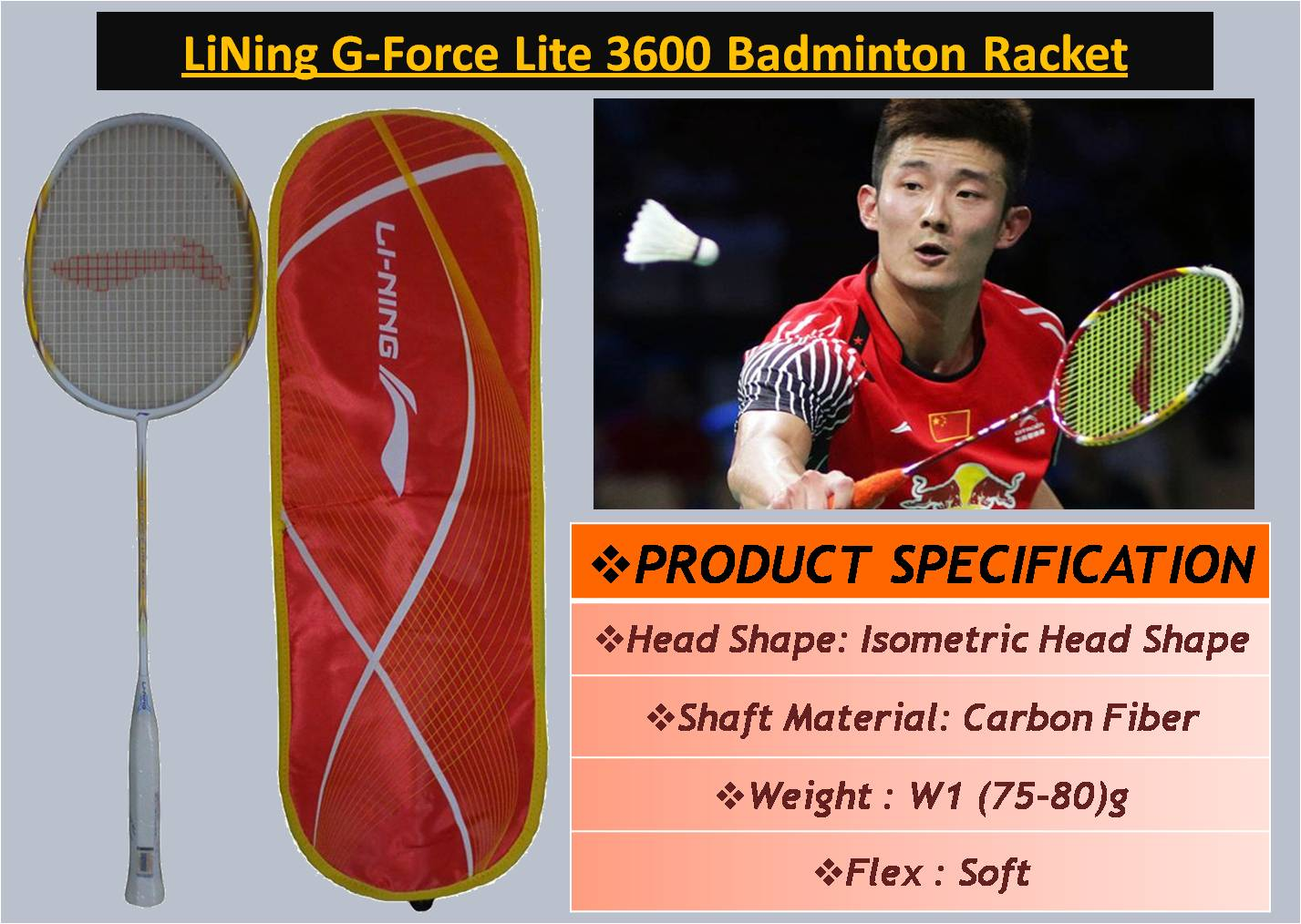 LiNing G-Force Lite 3600 Badminton Racket