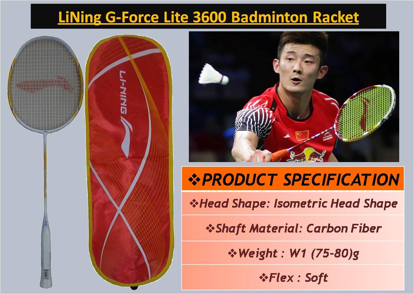LiNing G-Force Lite 3600 Badminton Racket