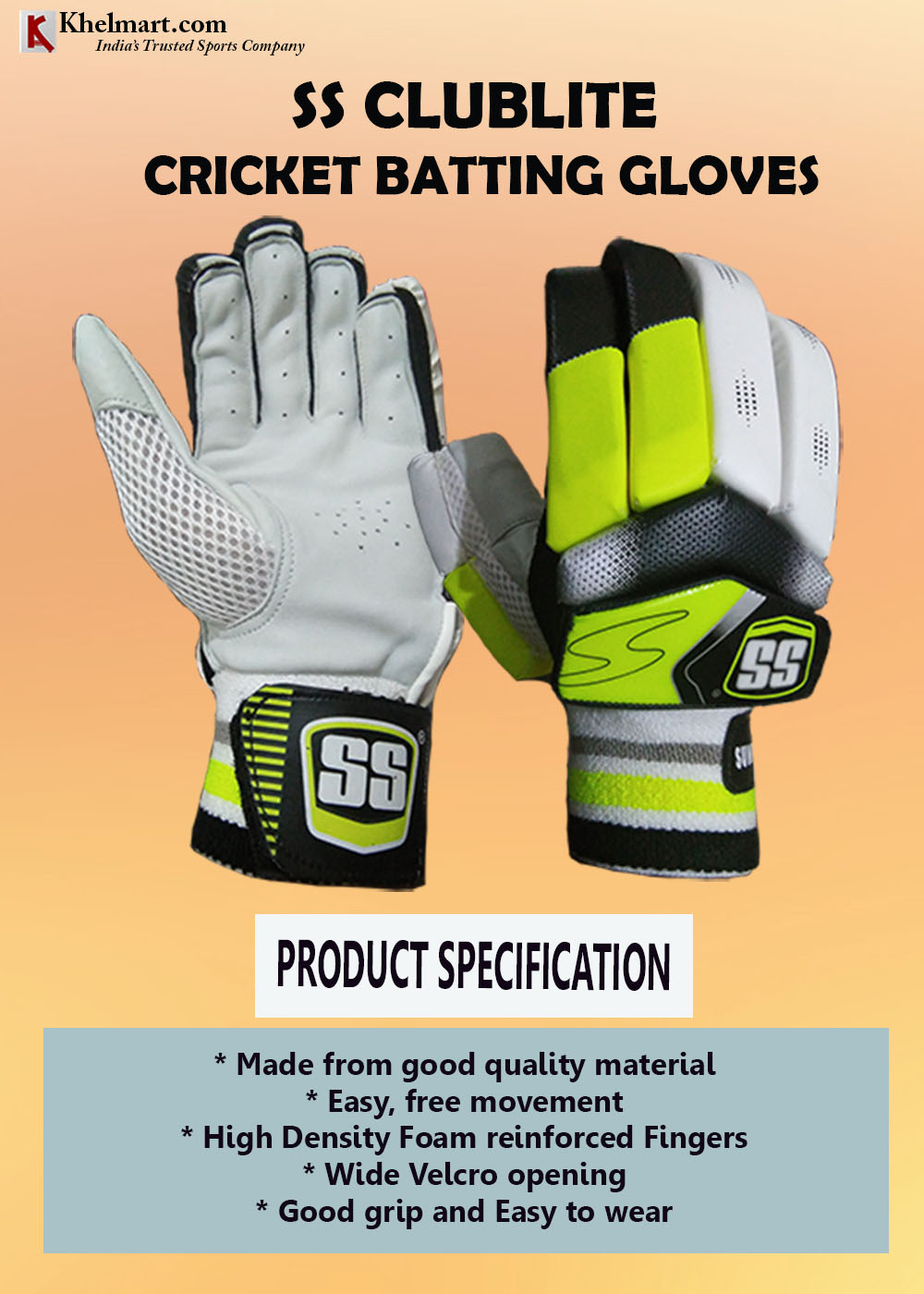 SS ClubLite Batting Gloves