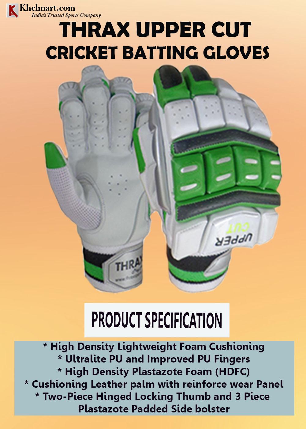 THRAX Upper Cut Cricket Batting Gloves