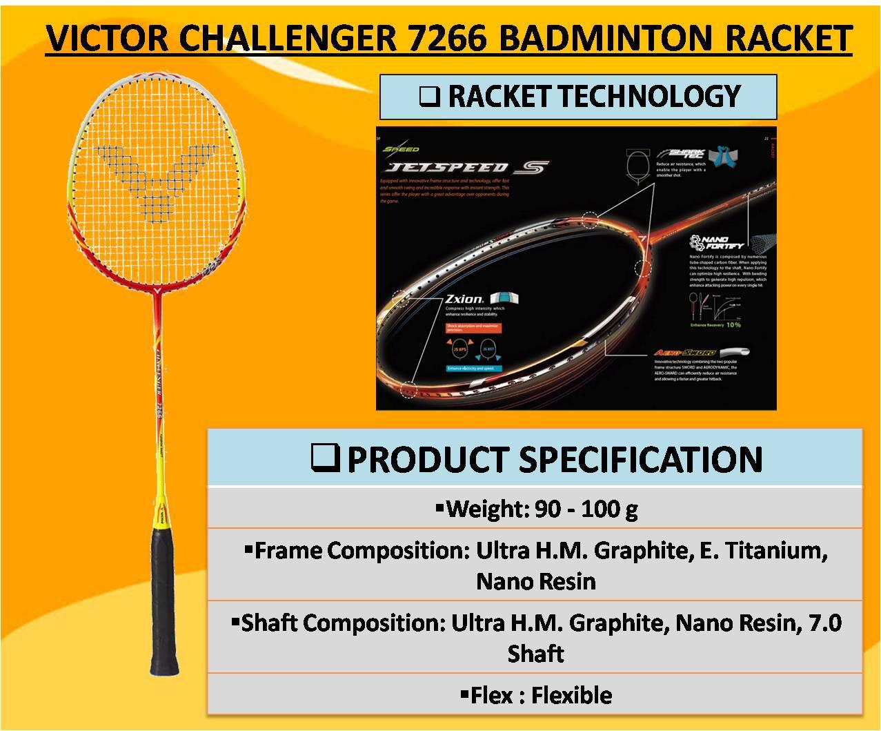VICTOR CHALLENGER 7266 BADMINTON RACKET