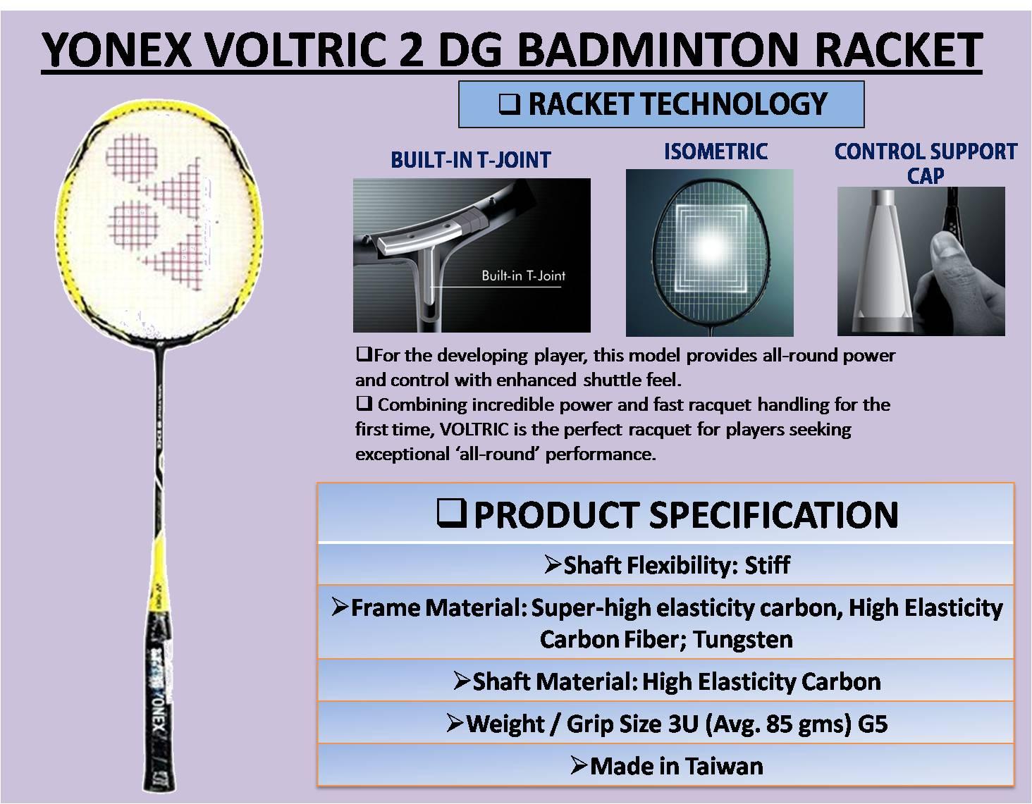 YONEX VOLTRIC 2 DG BADMINTON RACKET