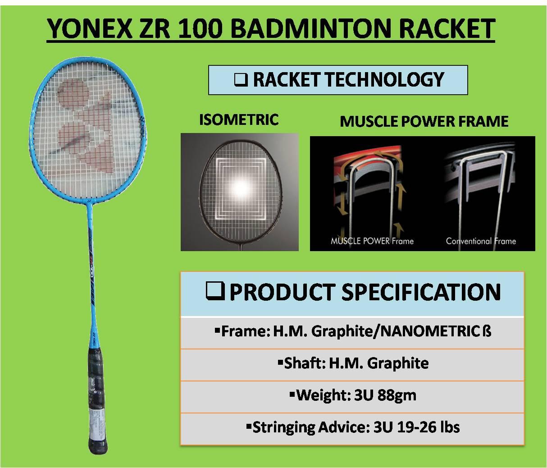 YONEX ZR 100 BADMINTON RACKET