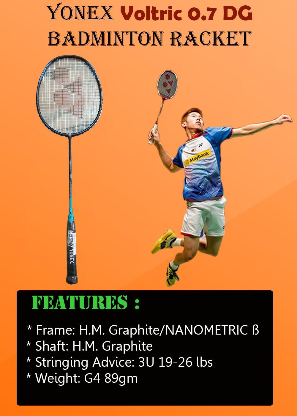 Yonex Voltric 0 7 DG Badminton Racket
