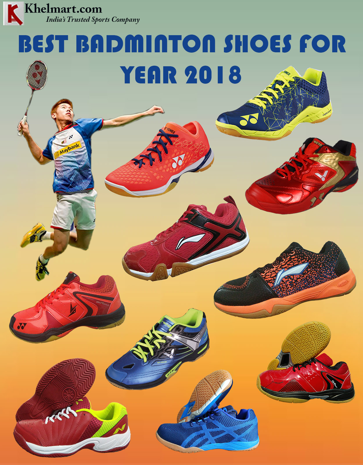 BEST BADMINTON SHOES FOR 2018