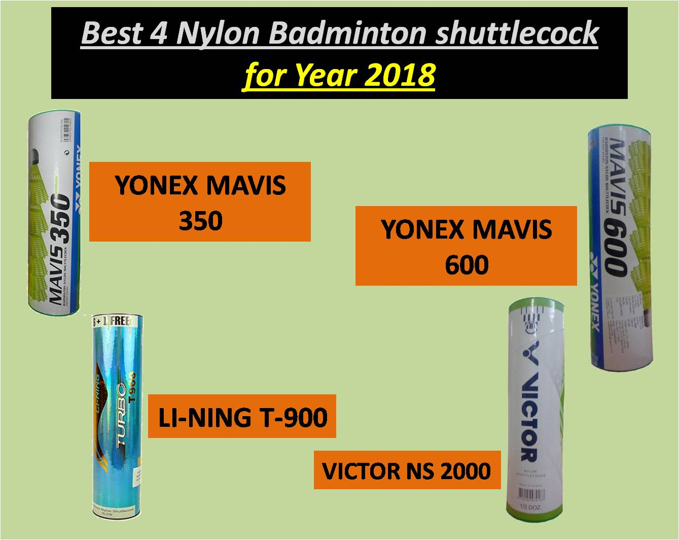 Best 4 Nylon Badminton shuttlecock for Year 2018