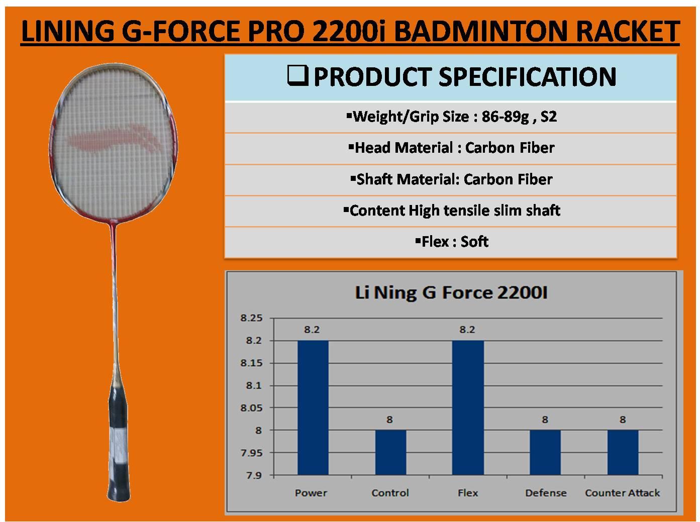 LINING G-FORCE PRO 2200i BADMINTON RACKET_6