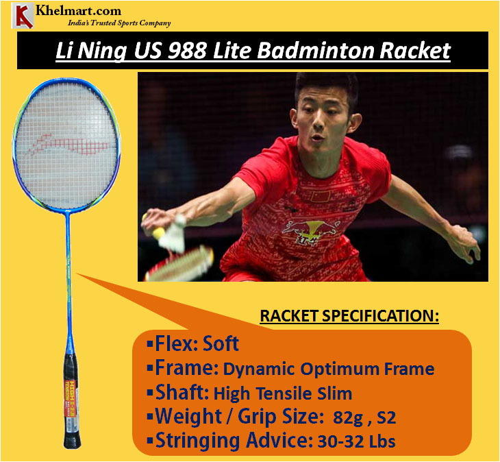 Li Ning US 988 Lite Badminton Racket