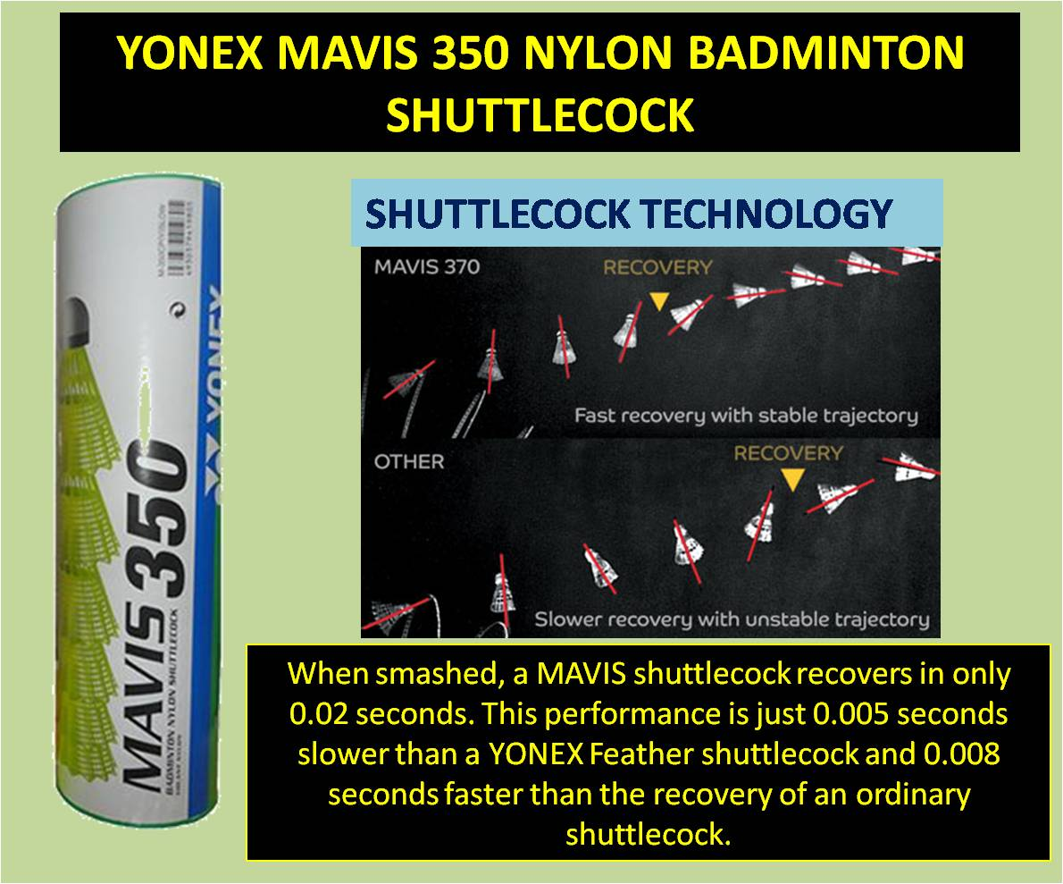YONEX MAVIS 350 NYLON BADMINTON SHUTTLECOCK