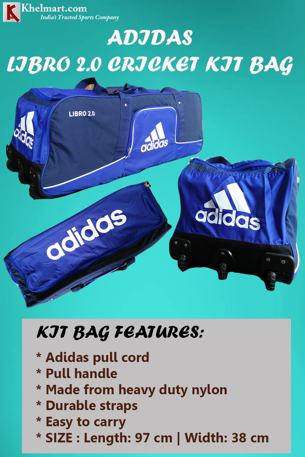 Adidas Libro 2Point0 Cricket Kit bag