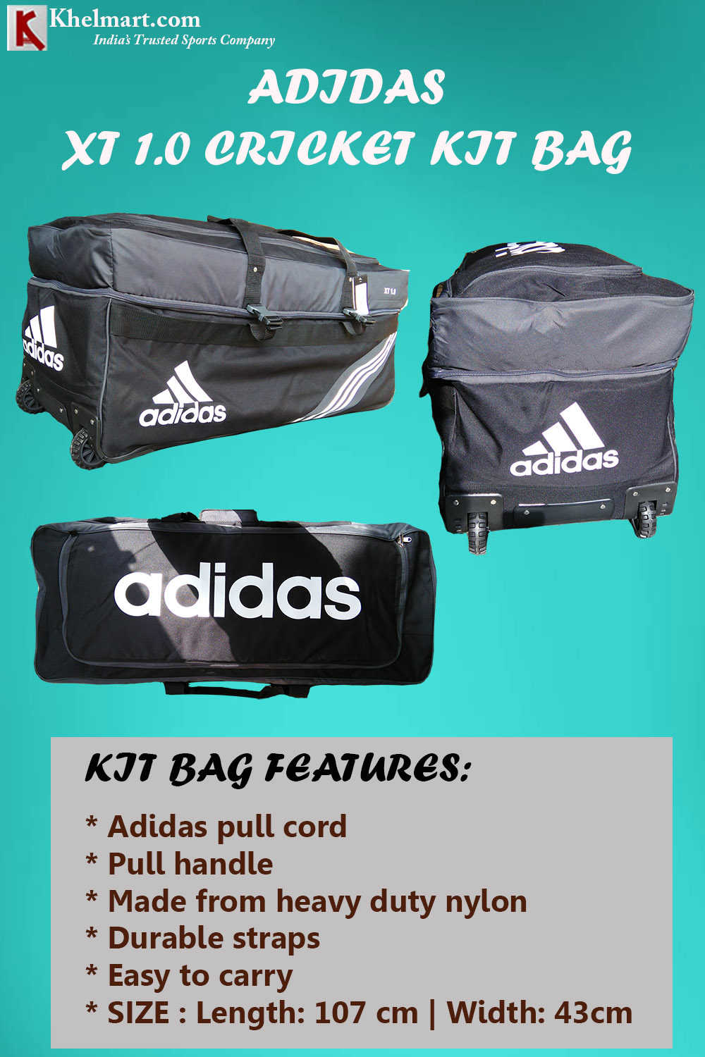 Adidas XT 1Point0 Cricket Kit bag