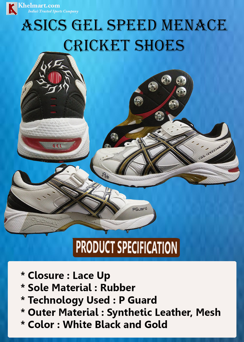 Asics Gel Speed Menace Full Spike Cricket Shoes_3