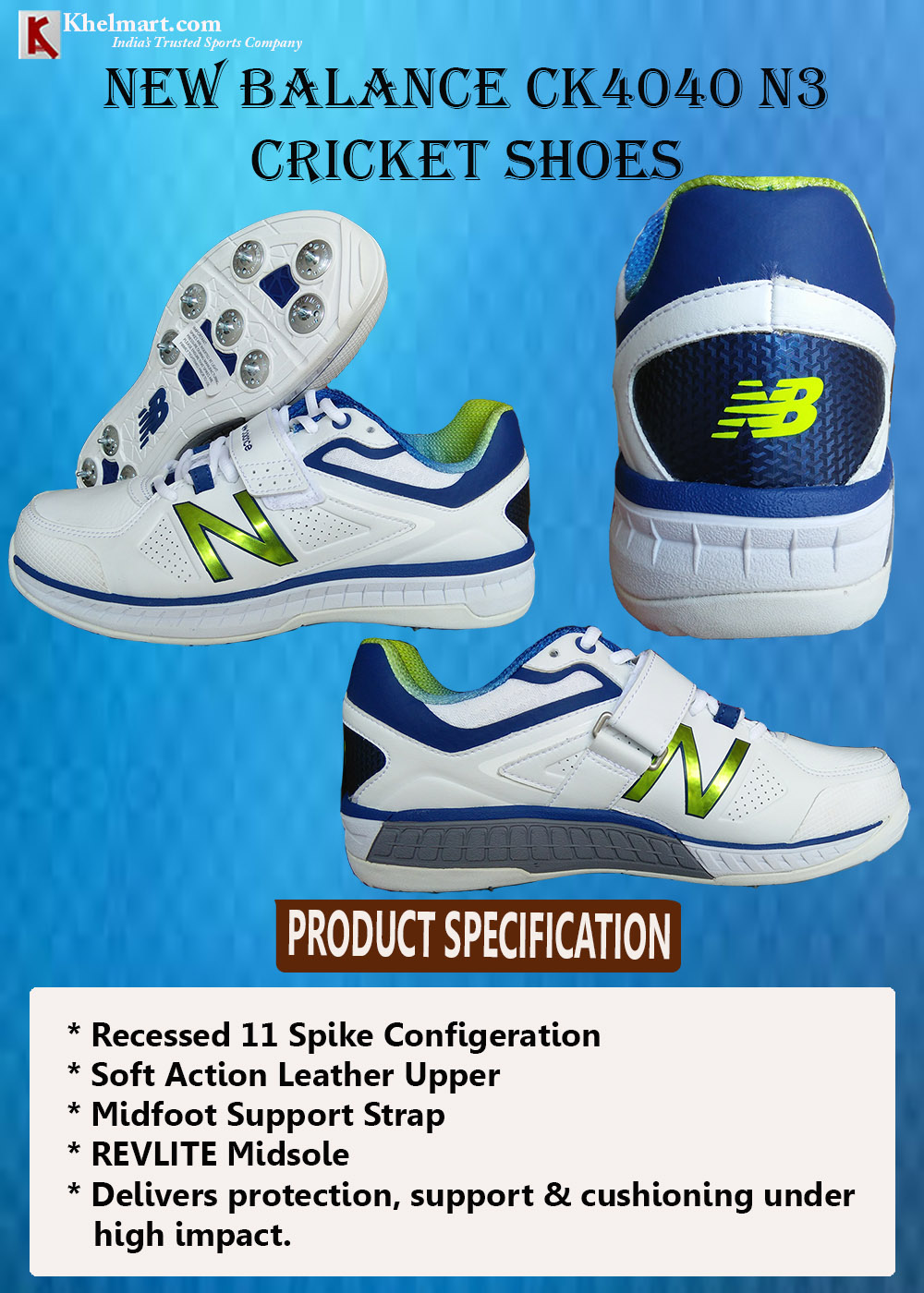 New Balance CK4040 N3 Cricket Shoes_1