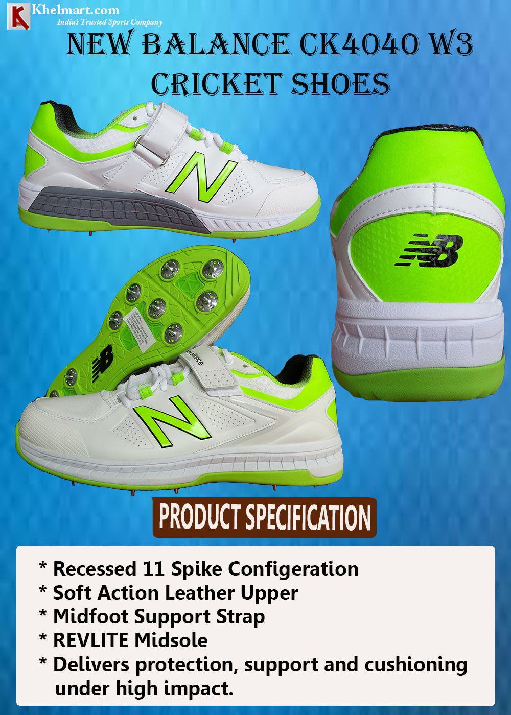 New Balance CK4040 W3 Cricket Shoes_4
