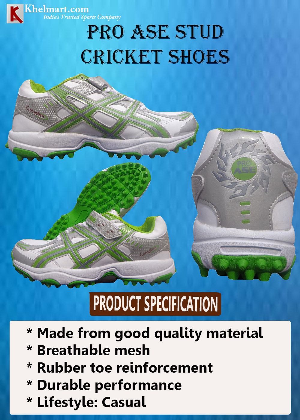 PRO ASE stud Cricket Shoes_9