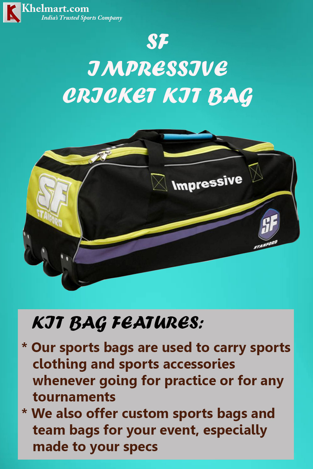 SF Impressive Cricket Kit Bag