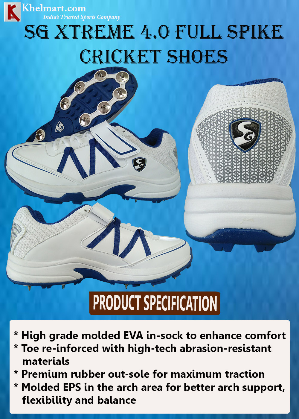 SG Xtreme 4.0 Full Spike Cricket Shoes_8