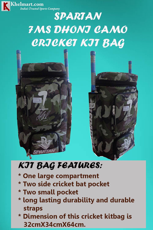 Spartan MS Dhoni CAMO Cricket Kit Bag