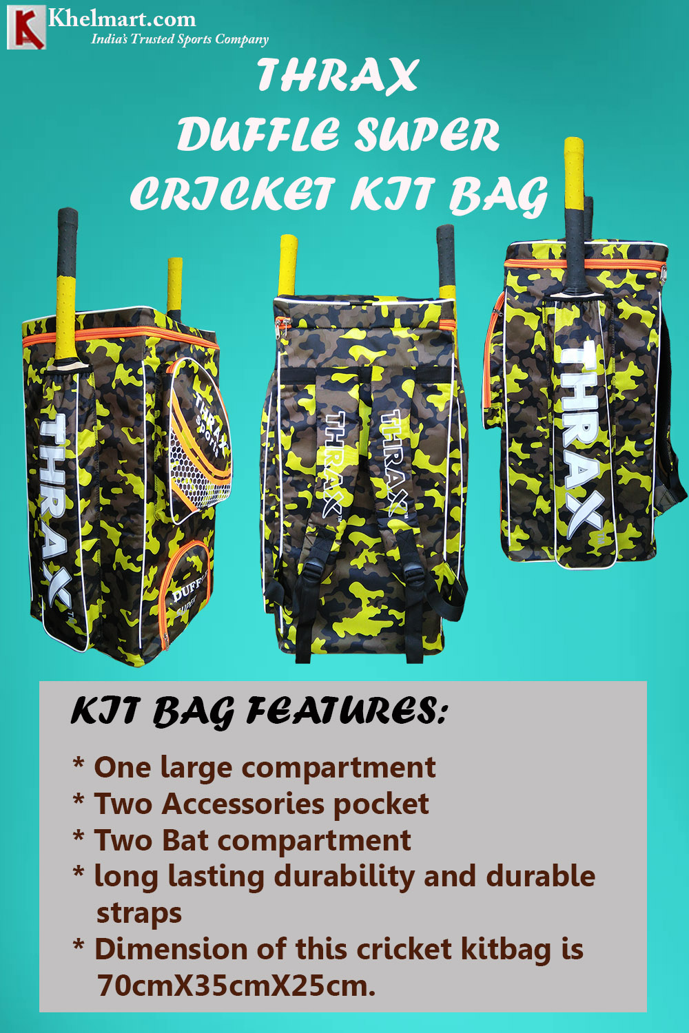 Thrax Duffle Super Cricket Kit Bag