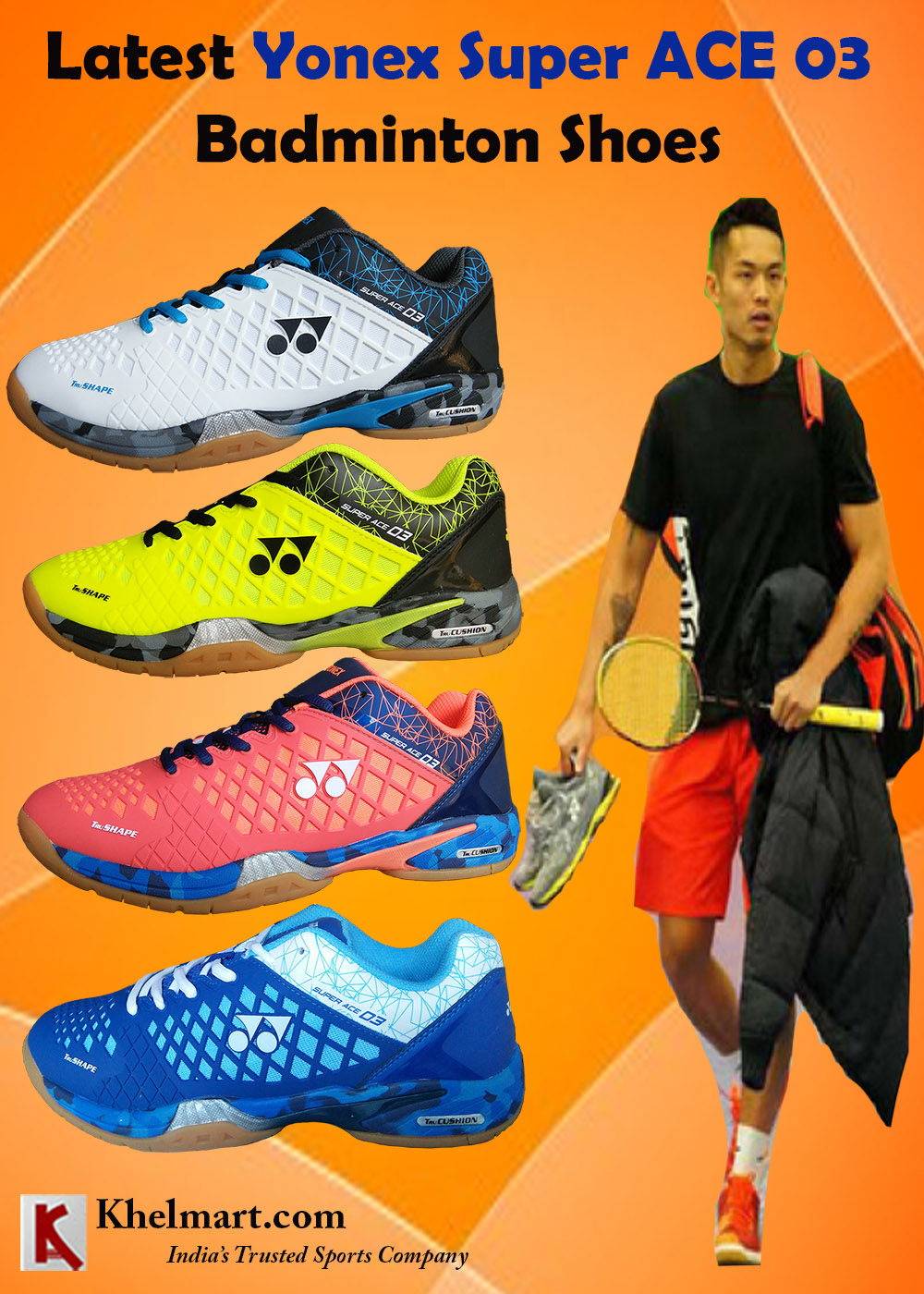 Latest Yonex Super ACE 03 Badminton Shoes