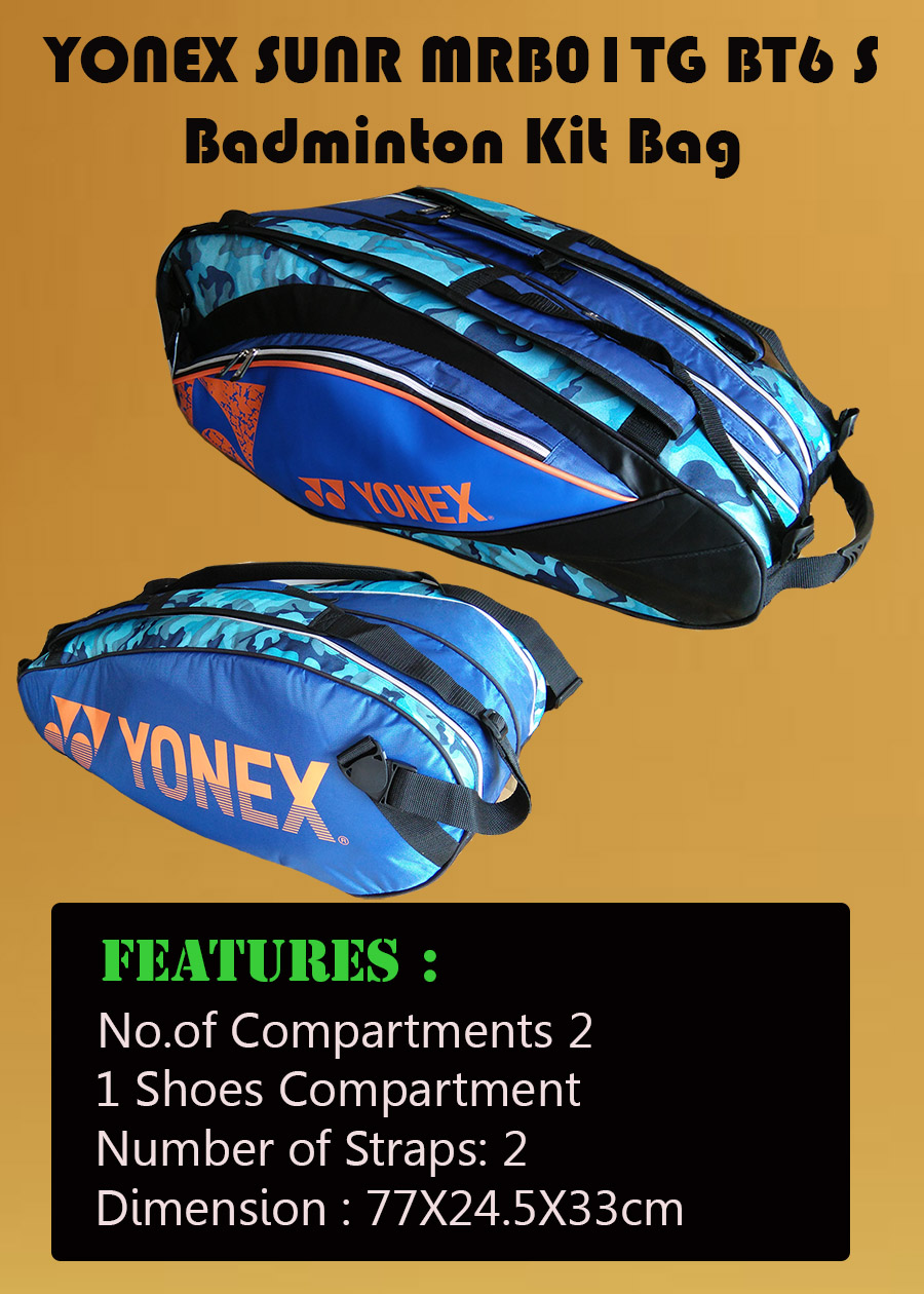 YONEX Sunr MRB01TG BT6 S Badminton Kit Bag_1