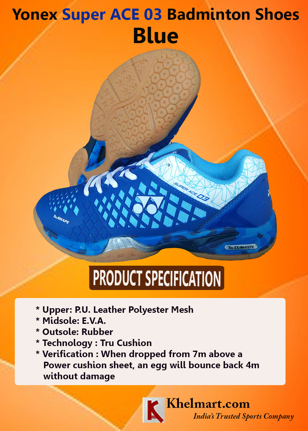 Yonex Super ACE 03 Badminton Shoes Blue_1