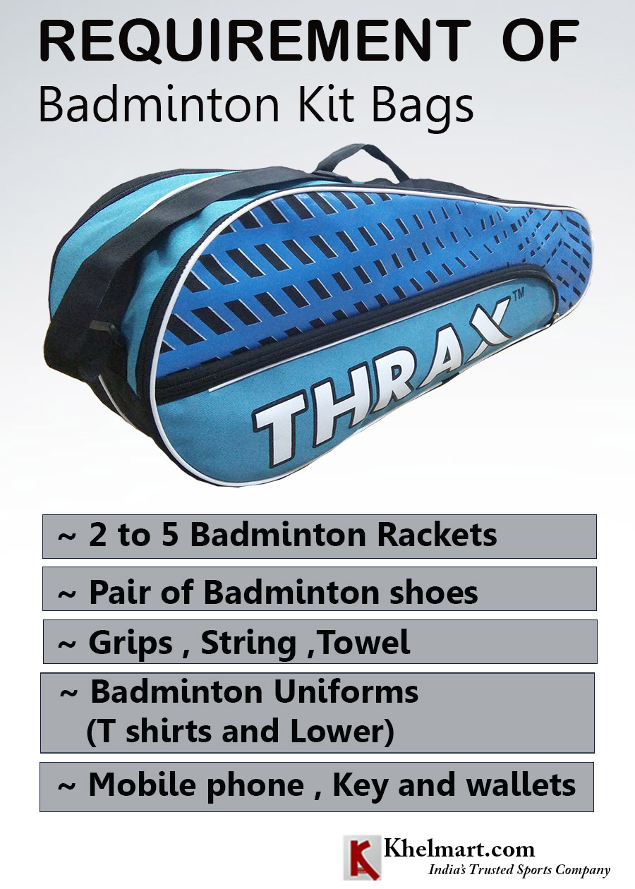 REQUIREMENT OF BADMINTON KIT BAG_1