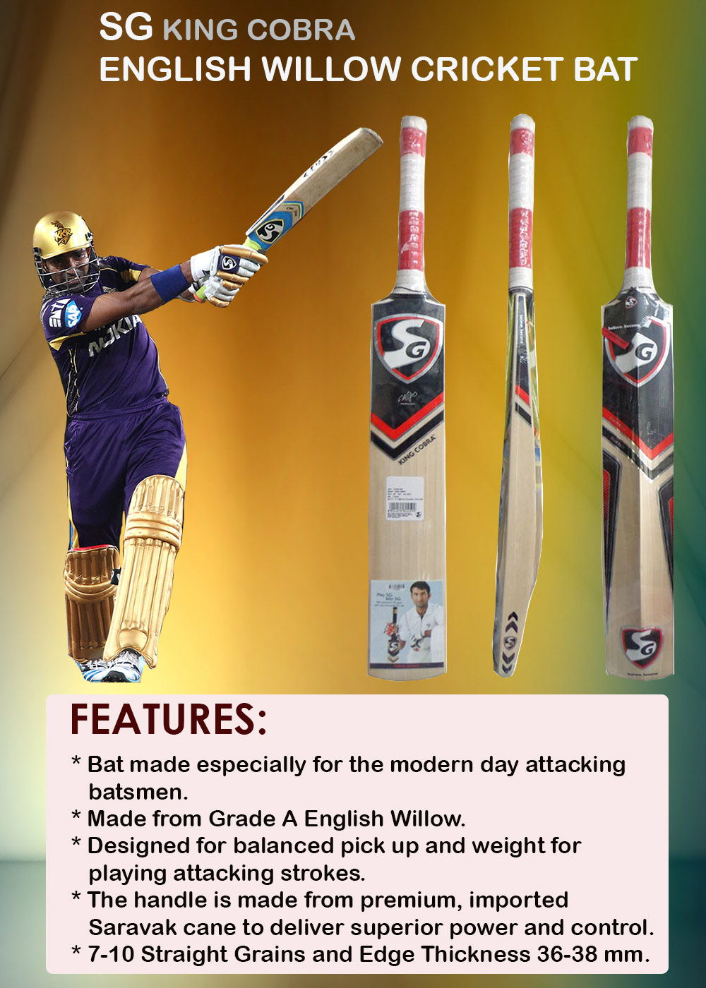 SG King Cobra Cricket Bat_4