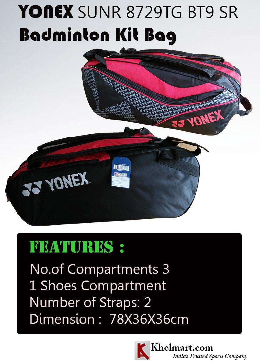 YONEX SUNR 8729TG BT9 SR KIT BAG
