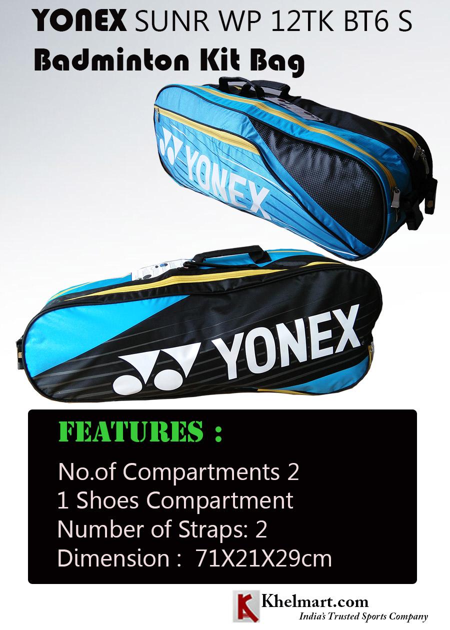 YONEX SUNR WP 12TK BT6 S KIT BAG