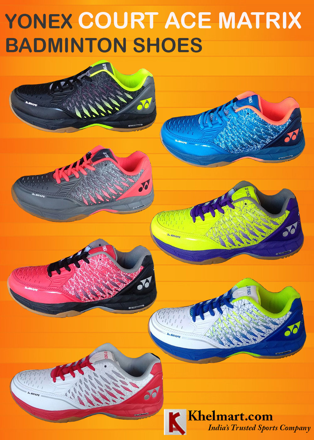 Yonex Court ACE Matrix Badminton Shoes_2