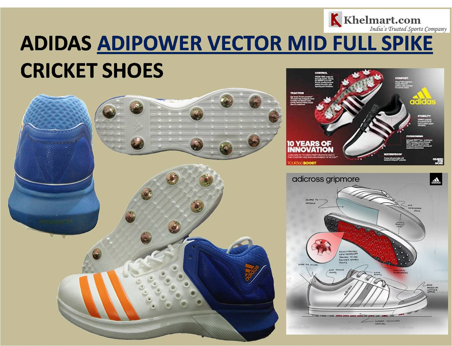 ADIDAS ADIPOWER VECTOR MID FULL SPIKE