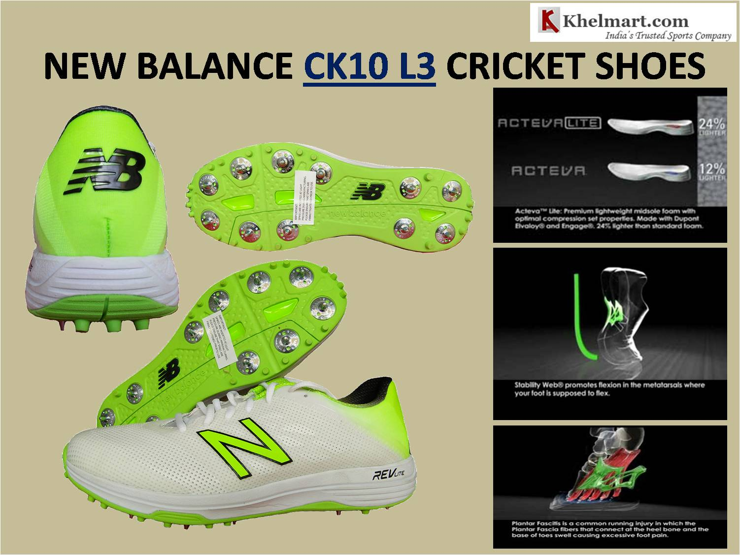 NEW BALANCE CK10 L3 CRICKET SHOES