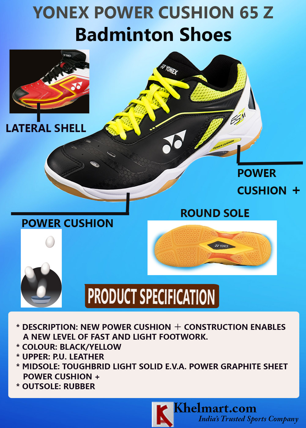 23f2e184123 All about Yonex Power Cushion Badminton Shoes 2018 | Khelmart.org ...