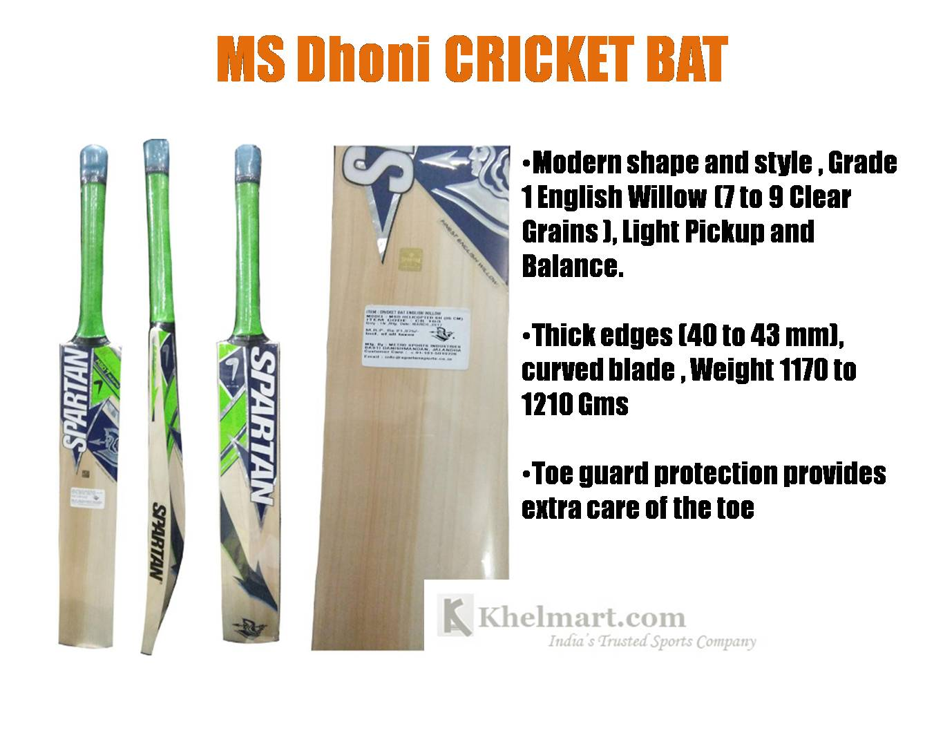 MSDhoni_Cricket_Bat_Khelmart