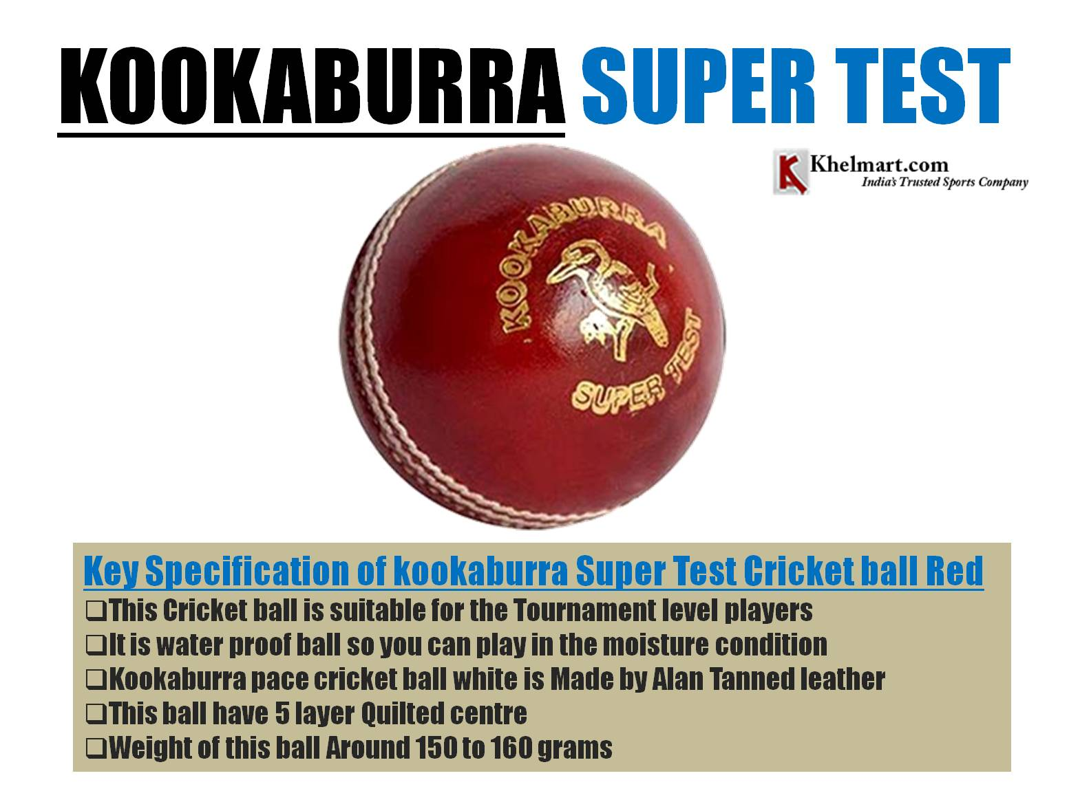 KOOKABURRA_SUPER_TEST_CRICKET_BALL